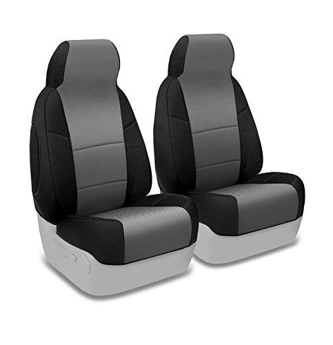 Black Coverking Front 50//50 Bucket Custom Fit Seat Cover for Select Jeep Wrangler TJ Models Neoprene