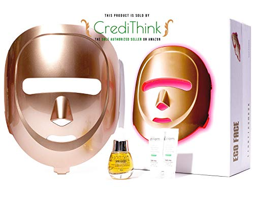 ECO FACE Near-infrared LED Mask for Home Facial LED Therapy | with Brightening Serum | infrared...