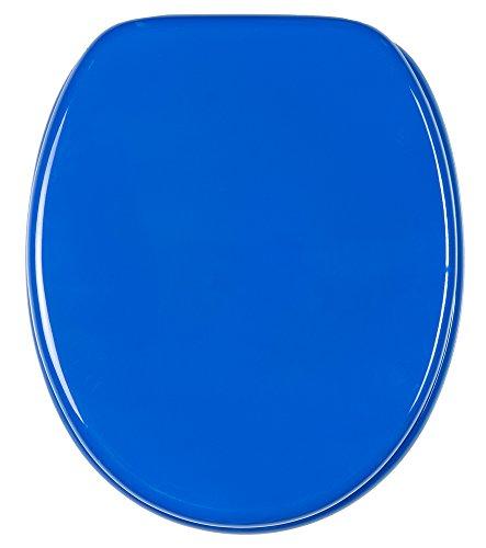 Abattant WC frein de chute soft close - Finition de haute qualité - Fixation facile - Bleu