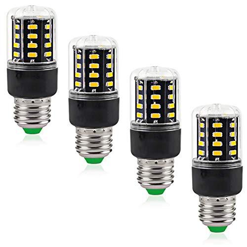 SHKUU AC85 265 V Edison Candelabro 3W LED Bombillas luz maíz Iluminación para el hogar Equivalente 30 vatios Cold Whit 00K Eye Protect 80+ CRI 300 lúmenes, Paquete 4