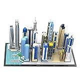 WWEI Architecture Dubai Marina Skyline Collection - Juego de 2499 piezas modular para vista de carreteras y construcción de bloques de construcción compatible con Lego 21052