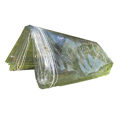 Lona Transparente: Toldos de Plástico Impermeables para Ventana, Balcón, Cultivos de Flores, Toldos de Invernadero, con Ojal para una Fácil Fijación, E-P, 1.1×1.6m