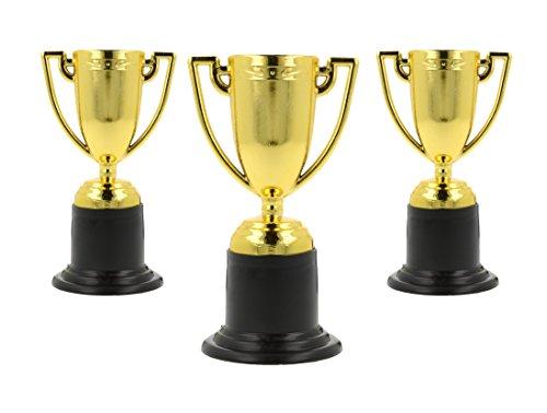Storm&Lighthouse 24x Piccoli trofei in plastica Dorata - Riempitrici per Borse da Party / Premi in Classe / Giocattoli per Bambini / premi / Giocattoli di Compleanno