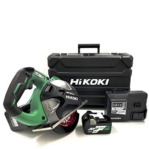 HiKOKI(ハイコーキ) 36Vコードレスチップソーカッター CD3607DA(WP) チップソー外径180~185mm 軟鋼材・ステンレス切断用 キックバック軽減システム搭載 蓄電池合計2個セット