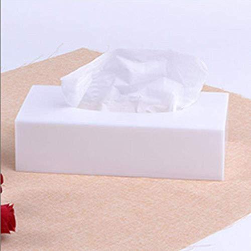 Manyao Tejido Caja de pañuelos de Almacenamiento Caja titulares de Nuevo Tejido Creativo Moderno Home Hotel acrílico Rectangular Rectangular extraíble Caja del Tejido de Toalla del Estante