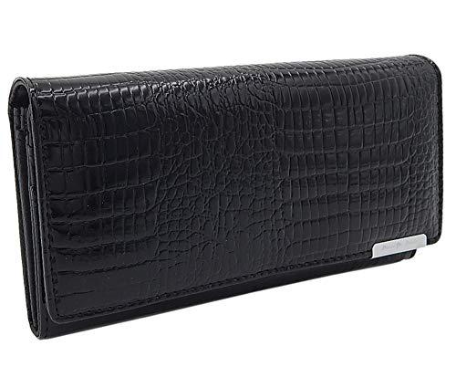 Damen Leder-Geldbörse Geldbeutel groß RFID-Schutz Portemonnaie lang Damen-Portmonee Damengeldbeutel viele Karten-Fächer