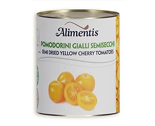 Conserva Italiana Alimentis Tomates amarillos enteros y pelados semisecos. Pack 12 X 800G.