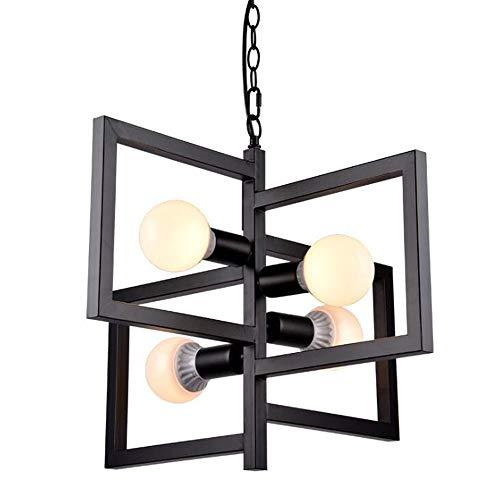 MADBLR7 Loft Vintage Lámpara colgante Nordic Retro Iron Lights Lámpara colgante industrial Accesorio de iluminación para cafetería Bar Decoración del hogar Pantalla Luminaria E27 Retro Simple Luces de