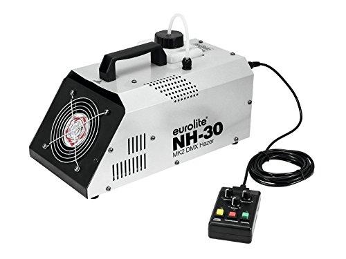 Eurolite NH-30 MK2 DMX Dunstnebelmaschine | Extrem kompakte, starke Maschine (720 W) mit Timer, Funkfernsteuerung & DMX | Produziert feinen, transparenten Nebel