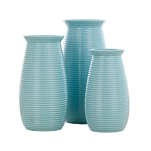 Retro Keramik Vase Foreign Creative Thread Einfach Modern Blau Weiß S