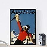 Vintage Poster Nacnic. Vintage Plakatwerbung. Treffen