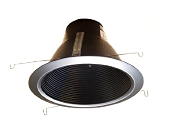 6pcsk-6  Deep Self Flange Air-Shut Baffle Trim for Line Voltage Recessed Light-Black