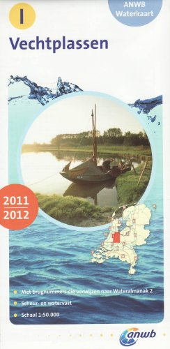 Waterkaart I Vechtplassen 1 : 50 000 (ANWB waterkaart)