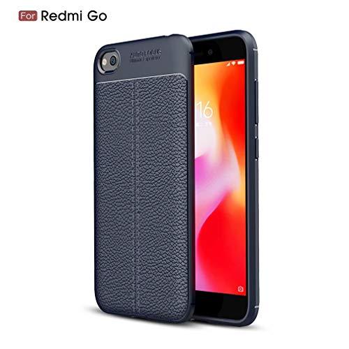 WYRHS Compatible con Xiaomi Redmi GO Funda TPU de Silicona Suave Ultra Delgado Carcasa de Telefono Rasguño a Prueba de Golpes Resistente Anti-caída Caso-Azul