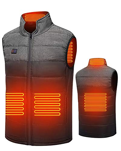 Heated Vest, Electric Warm Heating Jacket for Women Men Camping Hunting