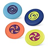 B. Toys – Flying Disc Set – 4 Colorful Frisbees – Disc-Oh! – Outdoor Sports & Games for Kids – Active Play – Backyard, Park, Beach – 4 Years +