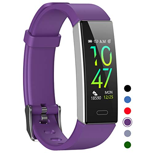 Mgaolo Fitness Tracker,Waterproof Activity Tracker with Blood Pressure Heart Rate Sleep Monitor for Android and iOS,Sport Modes Health Fit Smart Watch with Pedometer for Fitbit Men Women Kids Purple