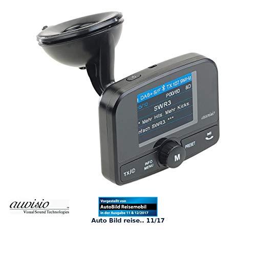 auvisio DAB Auto: Kfz-DAB+/DAB-Empfänger, FM-Transmitter, Bluetooth, Freisprech-Funktion (DAB Radio Transmitter)
