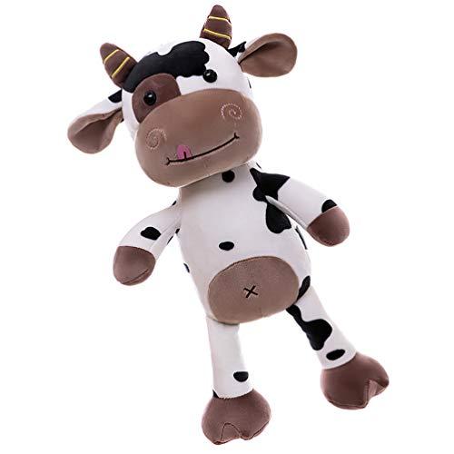 TOYANDONA 1 Unid Encantador Bebé Ganado Cómodo Juguete Suave Pequeño Ganado Muñeca de Peluche Vaca Juguete Muñeca Año Nuevo Decoración del Hogar 40 Cm