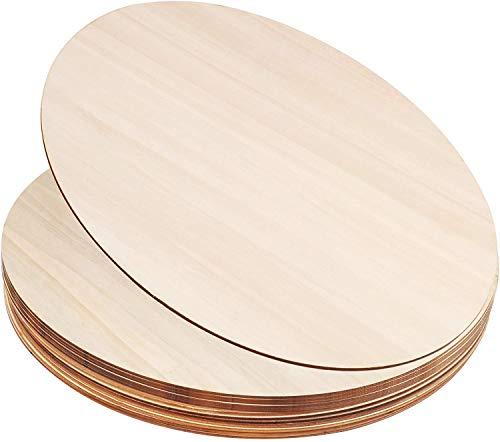 D L D - Dischi rotondi in legno, per artigianato, pirografia, pittura e decorazioni, 12 pezzi da 30 cm
