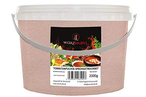 Tomatenpulver sprühgetrocknet aus Italien. Tomaten - Pulver mit hohem Lycopin - Gehalt. astroohem Lycopin - Gehalt. PE-HD Eimer 2000g. (2,0 KG)