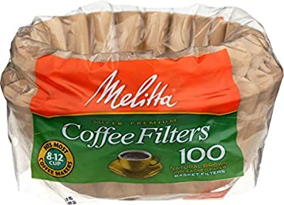 Melitta Inc, Coffee Filter Basket 8 to 12 Cup, 100 Count