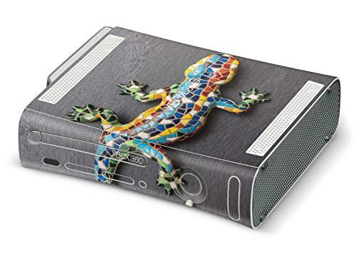 Skins4u Design modding Aufkleber Vinyl Skin Klebe Folie Skins Schutzfolie für Xbox 360 Mosaik Gecko