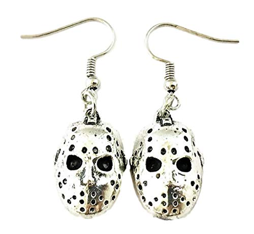 Horror Movie Mask Earrings - Voorhees Jason Valentine Jewelry Merchandise Gifts for Women