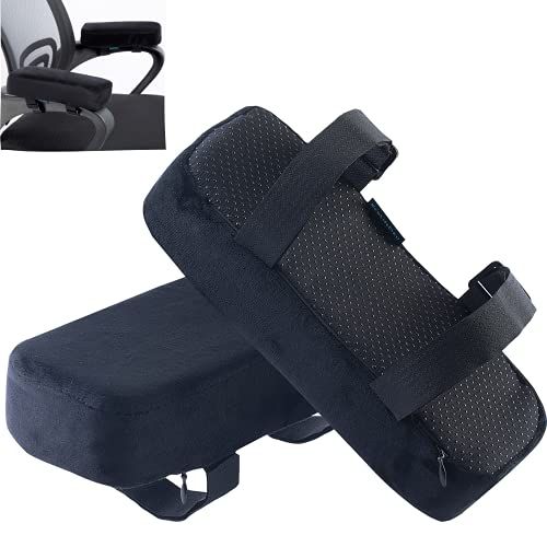 EcoLifeDay Extra Thick Chair armrest Cushions Elbow Pillow Pressure Relief Office Chair Gaming Chair armrest with Memory Foam armrest Pads 2-Piece Set of Chair