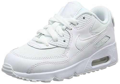 Nike Air MAX 90 Mesh (PS), Zapatos de Primeros Pasos Bebé-Niños, Blanco (Blanco (White/White), 28.5