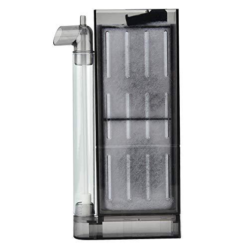 Pssopp Aquarium Luftfilter Aquariumfilter Luftheber Filter Aquarium biochemische Aktivkohlefilter Aquarium Sauerstoff Filtrations Ausrüstung Innenfilter für Aquarium(Filter für 30-40cm Aquarium)