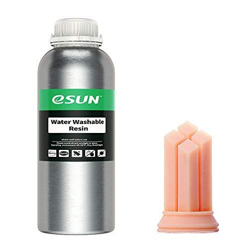 eSUN LCD UV 405nm Resina Rapida per Stampante 3D Resina Lavabile con Acqua LCD Photon Resina Fotopolimerica 1000ml,Peach Flesh