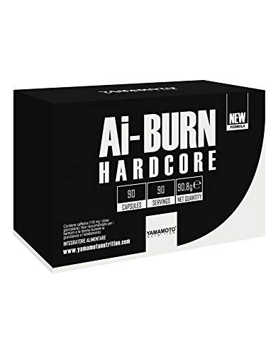 Yamamoto Nutrition Ai-BURN® HARDCORE integratore alimentare termogenico come coadiuvante di diete volte al controllo e alla riduzione del peso (90 capsule)