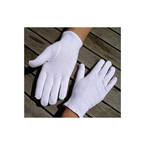 Soft-Hand Cotton Gloves Anti-sweat Etiquette for Dry Hands Healing White 5 Pairs