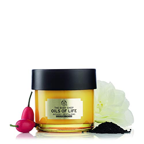 The Body Shop Oils Of Life Intensely Revitalising Sleeping Cream, 100% Vegan Night Cream, 2.7 Oz