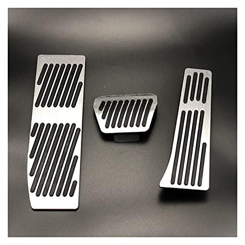 HAIMING Adatto per BMW 3 5. Serie E30 E32 E34 E36 E38 E39 E36 E38 E39 E46 E87 E90 E91 X5 X3 Z3 Pastiglie per Pedale del Freno dei Pedale Covers Accessori per Auto (Color Name : No Drill AT Silver)