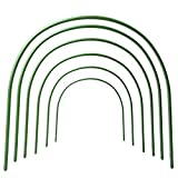 F.O.T 6Pcs Greenhouse Hoops Rust-Free Grow Tunnel Tunnel, 4ft Long Steel with...