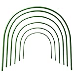 F. O. T 6pcs greenhouse hoops rust-free grow tunnel tunnel, 4ft long steel with plastic coated plant supports for garden… 6 ►material--high-qualityplasticcoatedsteelpipe,noteasytorust,canbeusedforalongtime. ►size--curvedtubelong120cm/4ft(thesizebeforebending),wide50cm/19. 7inch,high48cm/18. 9inch(thesizeafterbending),tubediameter11mm/0. 43inch. eachpackagecontains6hoops. Gardenfabricnotincluded. ►easytosetup--comescompletewithsharpenedpointsonbothsidesforeaseofplacement. washable,reusable,flatforstorage. createsafavorablemicroclimateforyourplants.
