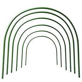 F. O. T 6pcs greenhouse hoops rust-free grow tunnel tunnel, 4ft long steel with plastic coated plant supports for garden… 1 ►material -- high-quality plastic coated steel pipe, not easy to rust, can be used for a long time. ►size -- curved tube long 120cm/4ft (the size before bending), wide 50cm/19. 7inch, high 48cm/18. 9inch (the size after bending), tube diameter 11mm/0. 43inch.  each package contains 6 hoops. Garden fabric not included. ►easy to set up -- comes complete with sharpened points on both sides for ease of placement.  washable, reusable, flat for storage.  creates a favorable microclimate for your plants.