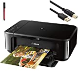Canon Pixma MG3620 Wireless Inkjet All-In-One Printer - Print, Scan, and Copy Business Office Bundle, 4800 x 1200 Resolution Auto Duplex, Mobile Device Black- 6 Feet USB Printer Cable + BROAGE USB PEN - Best Reviews Guide
