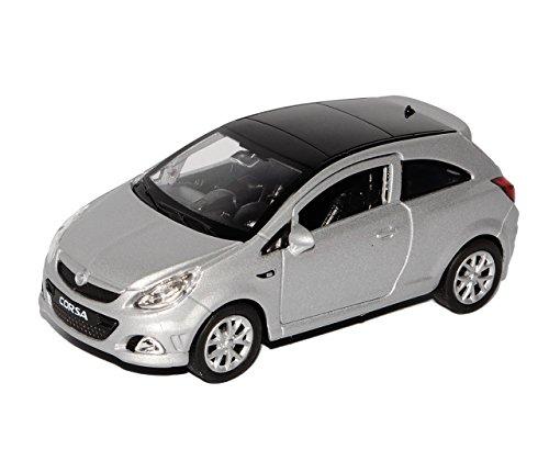 Welly Opel Corsa D Silber 3 TÜrer Ca 1/43 1/36-1/46 Modellauto Modell Auto