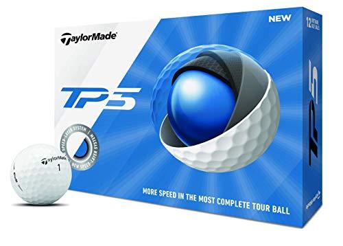 TaylorMade TP5 Golfbälle, Unisex, Golfball, M7152201, weiß, One Dozen