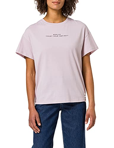 REPLAY W3524A Camiseta, Reloj de Cuarzo Rosa 513, XS para Mujer