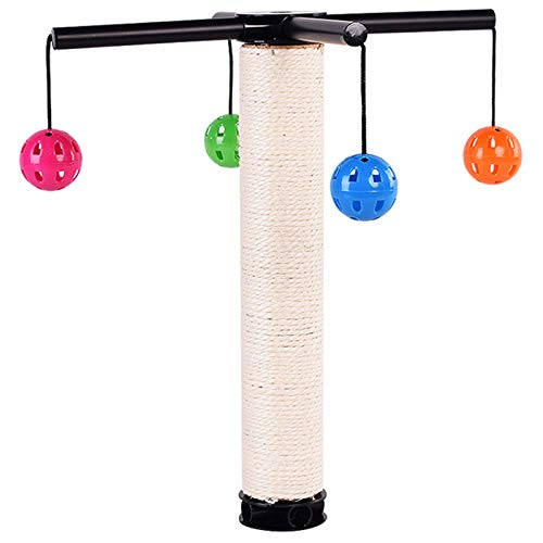 Monland NatüRliche Sisal Katzen Kratz Baum Spielzeug für Katzen Katzen Minze Turm Scratcher Sisal Seil Ball Kauen Klettern Spielzeug Schutz M?Bel