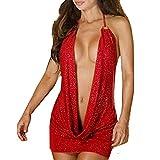 KIMODO Moda Mujer Caliente Mujer Lencería Sexy Disfraz Estilo Rojo Mono Simple Sexy lencería con Encanto Dormir Vestido Pijamas