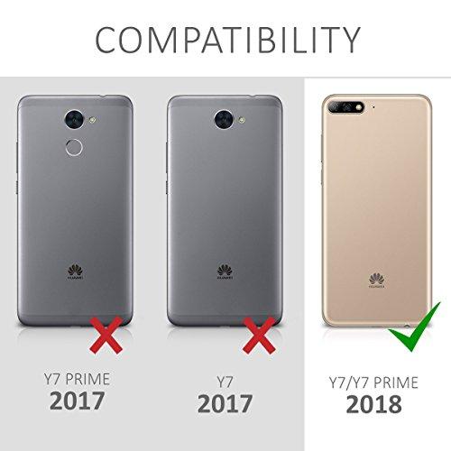 kwmobile Huawei Y7 (2018)/Y7 Prime (2018) Hülle - Handyhülle für Huawei Y7 (2018)/Y7 Prime (2018) - Handy Case in Schwarz matt - 6