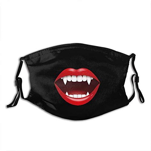Vampire Fangs Personalisierter Mundschutz mit Filter Unisex Anti-Dust Washable Wiederverwendbarer Mundschutz (Vampire Fangs7)