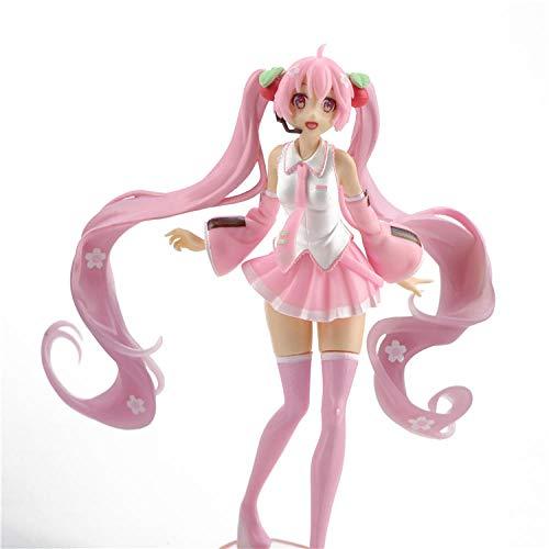 HYHSM Hatsune Miku Pink Sakura Maiden Princess Doll Modelo Cake Decoration Anime Decoración Car Toy
