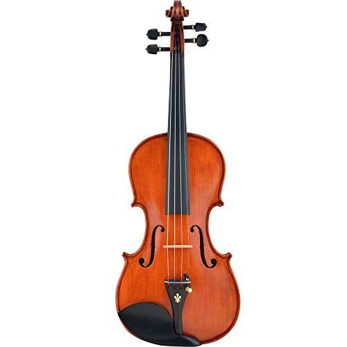 ABMBERTK Violine 4/4 Italienisch handgefertigt Antique Grading Violino Musikinstrument mit gepolstertem Koffer Bogen, Dreiviertel Größe