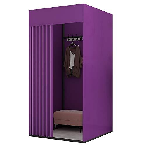 BCGT Umkleidekabine Lila stehender temporärer Wickelraum, Locker-Raum-Schattierungs-Tuch-Vorhang-Kit für das Mall-Büro-tragbare Ankleideraum (Color : Purple, Size : 100×100×200cm)